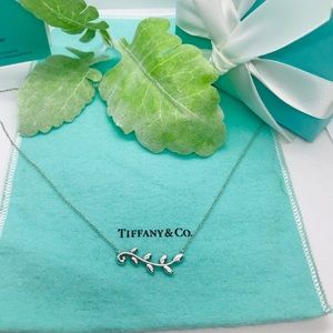 Tiffany olive leaf necklace